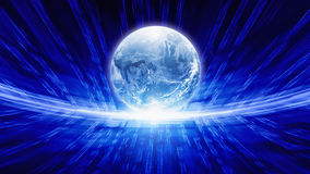 Blue transparent globe Royalty Free Stock Images