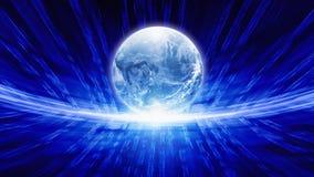 Blue transparent globe Royalty Free Stock Images