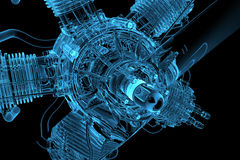 Blue transparent glowing engine Royalty Free Stock Image