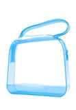 Blue transparent handbag Stock Images