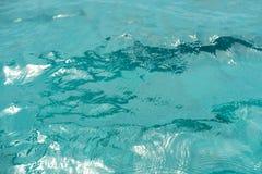 Blue transparent ocean water Stock Images