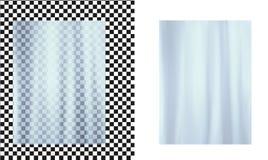 Blue transparent plastic wrapper royalty free illustration