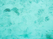 Blue and transparent sea water Royalty Free Stock Images