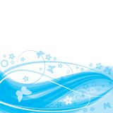 Blue_transparent_wave Stock Photography
