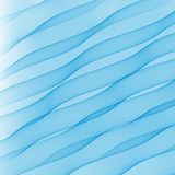 Blue transparent waves on white background Royalty Free Stock Image