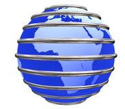 Blue trapped Earth Planet Stock Photography