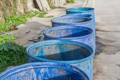 Blue trash Stock Photo