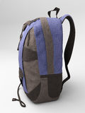 Blue travel backpack Stock Photography