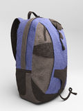 Blue travel backpack Royalty Free Stock Image
