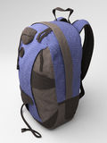 Blue travel backpack Royalty Free Stock Photography