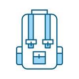 Blue travel backpack cartoon Stock Image