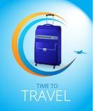 Blue Travel bag Stock Photo