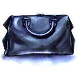 Blue travel bag on a white background Stock Photos