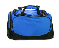 Blue travel bag Royalty Free Stock Photography