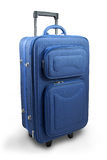 Blue travel suitcase Stock Photography