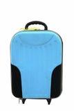 Blue traveler suitcase isolated on white. Background Royalty Free Stock Photography