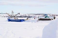 The Blue Fishing  Trawler Royalty Free Stock Photos