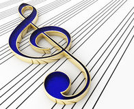Blue Treble Clef Royalty Free Stock Images