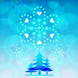 Blue tree of christmas vector illustrator background designs Stock Photos