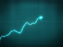 Blue trend as success symbol or financial growth. Useful for analytics Royalty Free Stock Photo