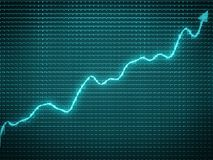 Blue trend as symbol of economy financial growth. Useful for analytics Stock Photos