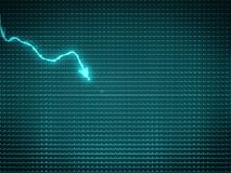 Blue trend graph as symbol of business decline or financial cris. Is. Large size Stock Photos