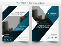 Blue triangle abstract annual report Brochure design template vector. Business Flyers infographic magazine poster.Abstract layout Stock Photo