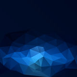 Blue triangle abstract background. Vector illustration for your design Stock Illustration