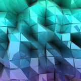 Blue triangle abstract. Vector background Royalty Free Stock Photography