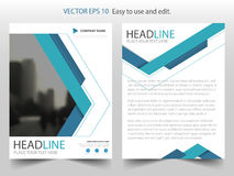 Blue triangle abstract Vector Brochure annual report Leaflet Flyer template design, book cover layout design