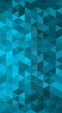 Blue triangle background Stock Images