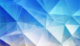 Blue triangle background Stock Photos
