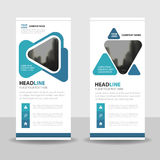 Blue Triangle Business Roll Up Banner flat design template ,Abstract Geometric banner template Vector illustration set Royalty Free Stock Photography