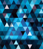 Blue triangle and dark blue shadow background Stock Photography