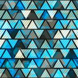 Blue triangle grunge seamless pattern Stock Photos
