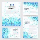 Blue triangle Identity-2 Stock Photos