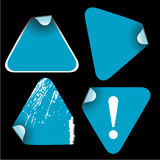 Blue triangle labels Royalty Free Stock Photography