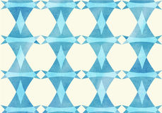 Blue triangle, lozenge watercolor pattern Royalty Free Stock Photography