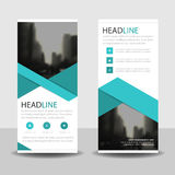 Blue triangle  roll up business brochure flyer banner design , cover presentation abstract geometric background, Royalty Free Stock Photo