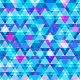 Blue triangle seamless pattern Stock Image