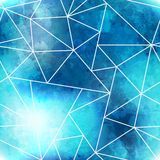 Blue triangle seamless pattern with grunge effect Royalty Free Stock Photography