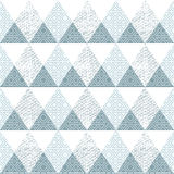 Blue triangle seamless pattern with grunge effect Stock Images