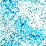 Blue triangle seamless texture with grunge effect Stock Photo