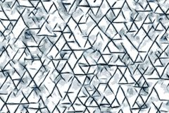Blue triangle shapes and abstract drawings for a background stock illustration