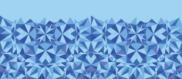 Blue triangle texture horizontal seamless pattern Stock Photos