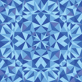 Blue triangle texture seamless pattern background Stock Photo