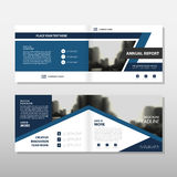 Blue triangle Vector annual report Leaflet Brochure Flyer template design, book cover layout design. Abstract business presentation template, a4 size design vector illustration