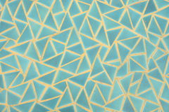 The blue triangle wall. The blue facet wall - facet ground - tile wall Royalty Free Stock Image