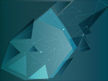 Blue triangles with abstract dots Royalty Free Stock Photo