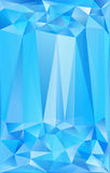 Blue triangles abstract vector poster background Royalty Free Stock Photography
